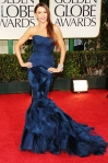 Sofia Vergara in a blue Vera Wang gown with Casadei heels & Harry Winston jewelry