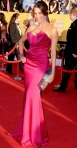 Sofia Vergara in a bright pink Marchesa gown