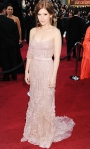 Kate Mara in a strapless embellished Jack Guisso Couture gown with Lorraine Schwartz jewelry & Brian Atwood shoes
