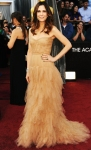 Kristen Wiig in a nude tulle strapless J. Mendel gown