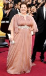 Melissa McCarthy in an embellished Marina Rinaldi gown