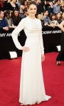Shailene Woodley in a white Valentino couture gown