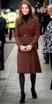 Catherine Middleton in a belted Hobbs coat