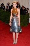 Carey Mulligan in a silver & gold Prada dress