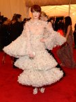 Florence Welch in an elaborate Alexander McQueen gown