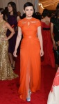 Ginnifer Goodwin in an orange Monique Lhuillier gown