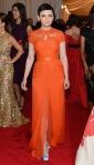 Ginnifer Goodwin in an orange Monique Lhuillier gown