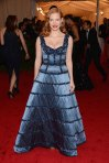 Jessica Chastain in a blue structured Louis Vuitton gown