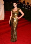 Jessica Pare in a gold L'Wren Scott gown