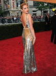 Kate Upton in a silver Michael Kors gown