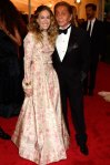 Sarah Jessica Parker in a floral print Valentino gown with Valentino Garavani