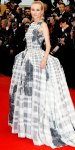 Diane Kruger in a printed Christian Dior gown