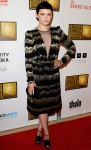 Ginnifer Goodwin in a black & gold Viktor & Rolf dress with Nicholas Kirkwood heels