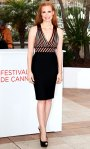 Jessica Chastain in a Herve L. Leroux top and pencil skirt with Giueppe Zanotti heels