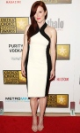 Julianne Moore in a black & white Jason Wu Resport 2013 dress with Walter Steiger shoes & Bulgari jewelry