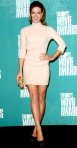 Kate Beckinsale in a blush three-quarter sleeved Christian Dior dress with Salvatore Ferragamo heels