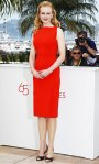 Nicole Kidman in a tomato red shift dress by Antonio Berardi & Manolo Blahnik kitten heels