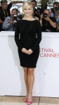 Reese Witherspoon in a black long-sleeved Versace cocktail dress