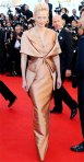 Tila Swinton in a copper Haider Ackermann gown