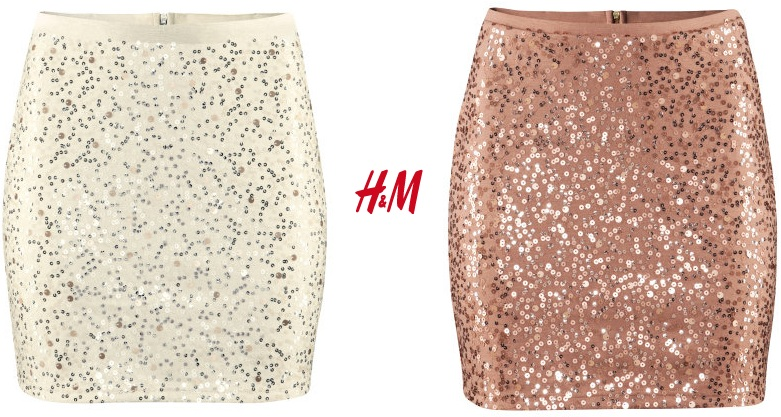 Rose Gold Sequin Skirt - Dress Ala