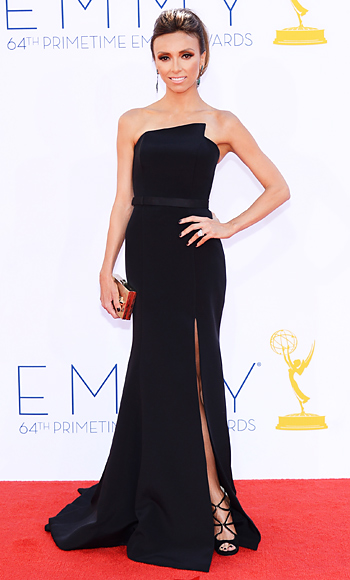 Giuliana Rancic In A Black Romona Keveza Column Gown With Sutra
