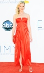 Gretchen Mol in a red satin Valentino haute couture gown with Fred Leighton diamonds.