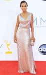 Kerry Washington in an iridescent blush Vivienne Westwood column gown with a Kotur bag & Fred Leighton jewelry.
