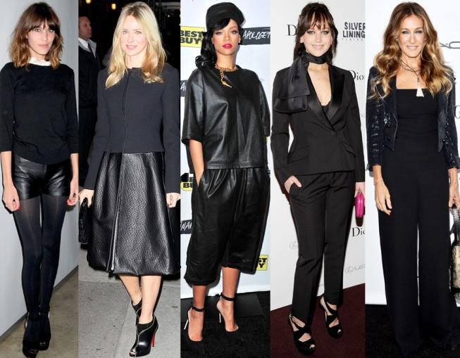 Alexa Chung, Naomi Watts, Rihanna, Jennifer Lawrence, & Sarah Jessica Parker.