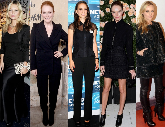 Kate Moss, Julianne Moore, Natalie Portman, Kate Bosworth, & Diane Kruger.