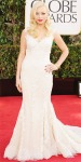 Francesca Eastwood in a retro lace gown by Giorgio Armani