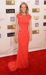 Helen Hunt in a Philip Armstrong gown with a Lauren Merkin clutch & Martin Katz jewelry.