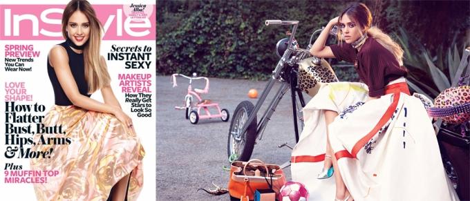 Jessica Alba for InStyle February 2013