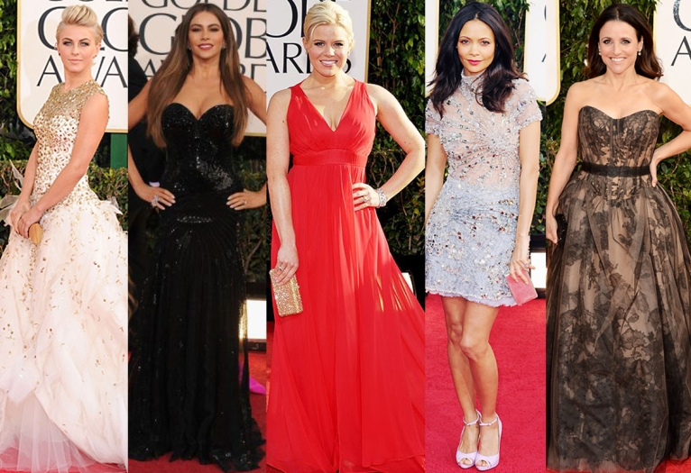 Julianne Hough, Sofia Vergara, Megan Hilty, Thandie Newton, & Julia Louis-Dreyfus.