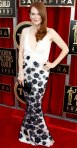 Julianne Moore in a black & white flower embellished Chanel Haute Couture gown