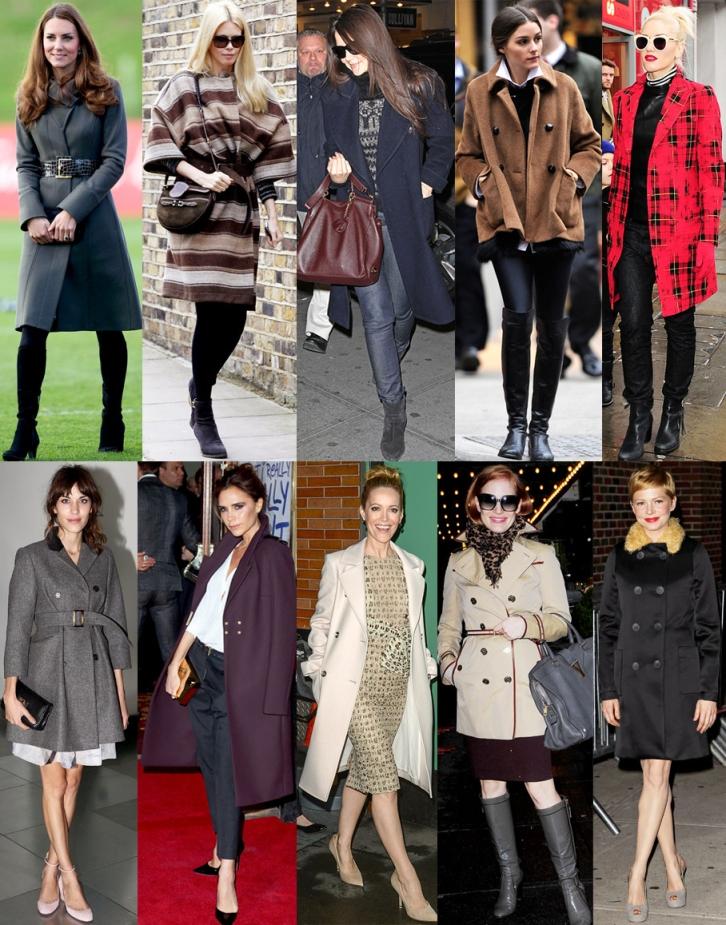 Kate Middleton, Claudia Schiffer, Katie Holmes, Olivia Palermo, Gwen Stefani, Alexa Chung, Victoria Beckham, Leslie Mann, Jessica Chastain, & Michelle Williams