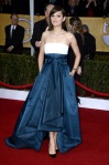 Marion Cotillard in a colorblocked Christian Dior gown