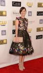 Marion Cotillard in a flower embellished Zuhair Murad dress with ankle strap sandals.