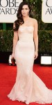 Megan Fox in a pink lace detailed Dolce & Gabbana gown with jewelry by Lorraine Schwartz