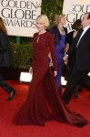 Naomi Watts in a backless brick Zac Posen long-sleeved gown.
