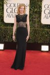 Nicole Kidman in a black bodiced Alexander McQueen gown