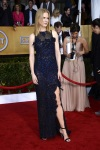 Nicole Kidman in a navy sparkling slitted gown by Vivienne Westwood