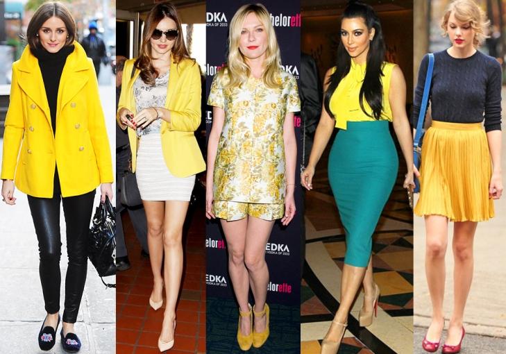 Olivia Palermo, Miranda Kerr, Kirsten Dunst, Kim Kardashian, & Taylor Swift.