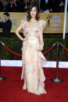 Rose Byrne in a floral printed Valentino gown