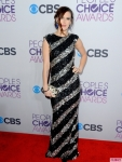 Rumer Willis in a black & silver sleeveles gown by alice + olivia by Stacey Bendet