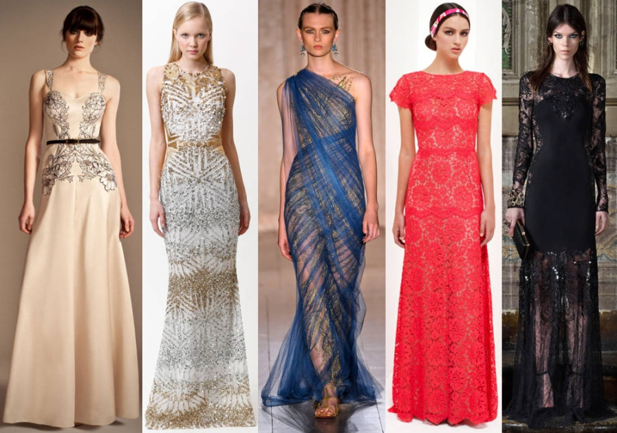Temperley London, Badgley Mischka, Marchesa, Collette Dinnigan, & Roberto Cavalli.
