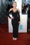 Alice Eve in a black flame-accented Alessandra Rich gown