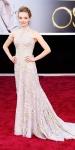 Amanda Seyfried in a golen leaf Alexander McQueen gown