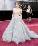 Amy Adams in a pastel sweetheart Oscar de la Renta ballgown