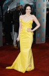 Andrea Riseborough in a yellow Vivienne Westwood gown