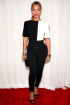 Beyonce in a black & white mod jumpsuit by Osman